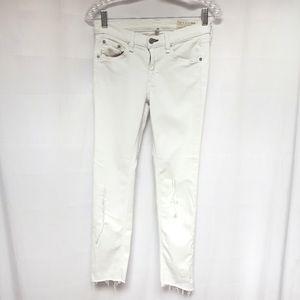 rag & bone bright white skinny jean distressed
